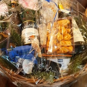 Geschenkideen zu Weihnachten wie Präsentkörbe aus der Holstein Brasserie findet ihr in in den MÜNSTER ARKADEN